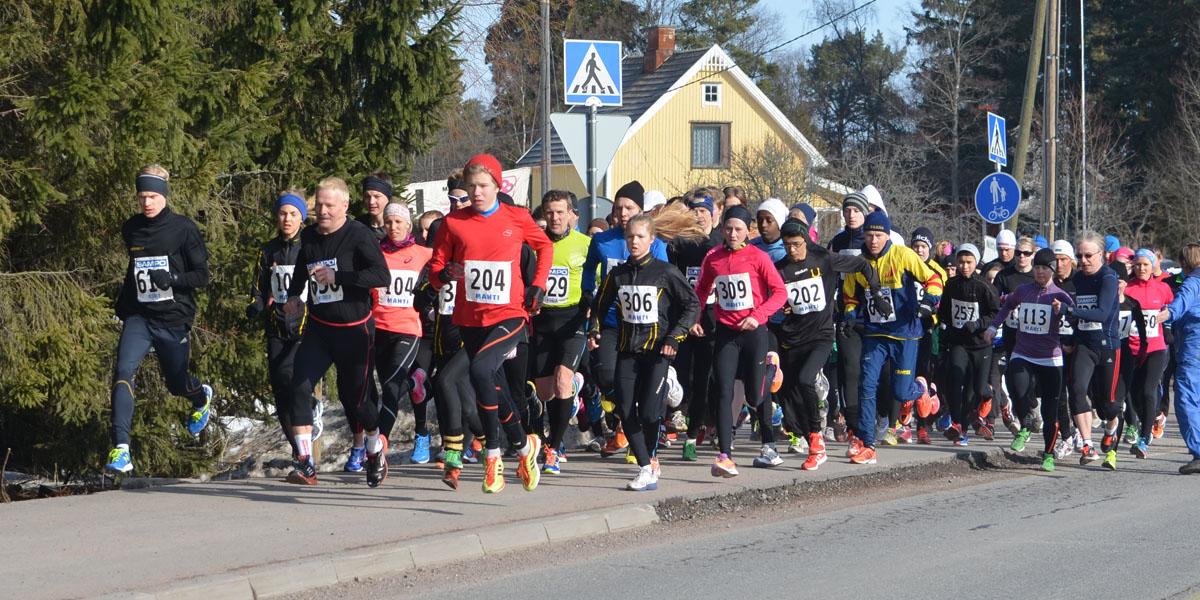 5 kilometrin matkalle lähti 111 juoksijaa.